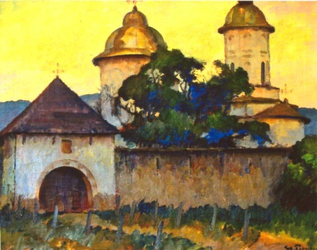 Ștefan Popescu,Mănăstire cu două turle